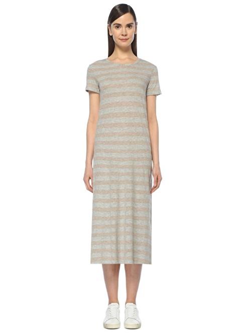 Beymen Collection Fiyonk Bağlamalı Jersey Midi Elbise Gri